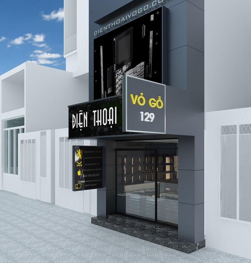 Thiết kế nội thất shop điện thoại Vỏ Gỗ 1