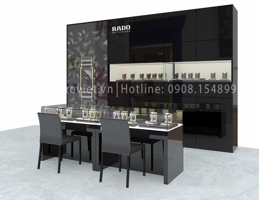 thiết kế shop đồng hồ Rado Corner 2