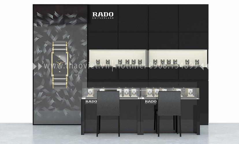 thiết kế shop đồng hồ Rado Corner 4