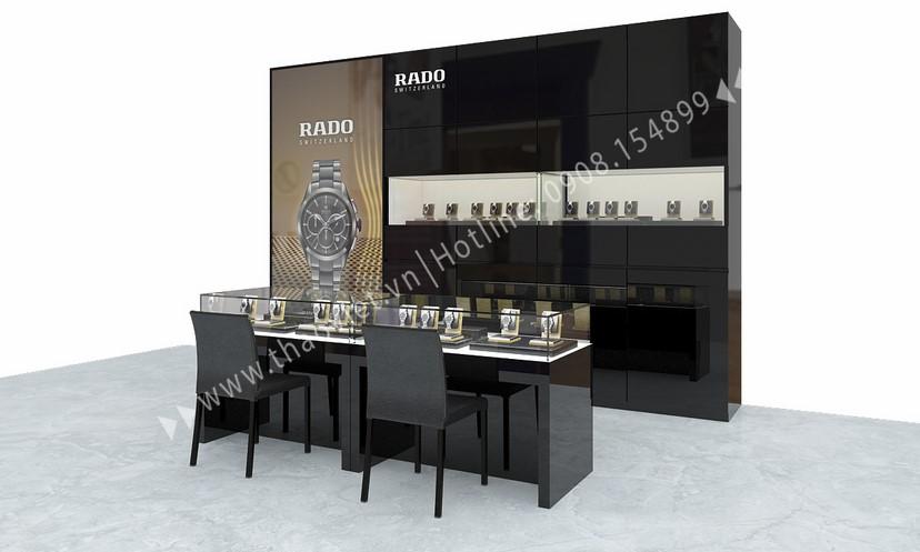 thiết kế shop đồng hồ Rado Corner 1