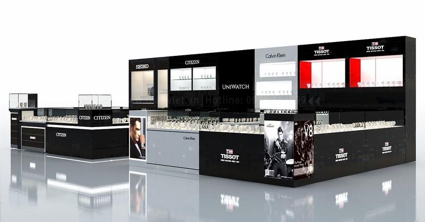thiết kế nội thất shop đồng hồ Seiko Uni Watch 2