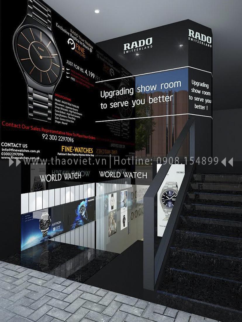 Thiết kế shop đồng hồ Seiko - Đồng Khởi