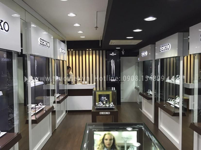Thi công nội thất shop đồng hồ Seiko 6
