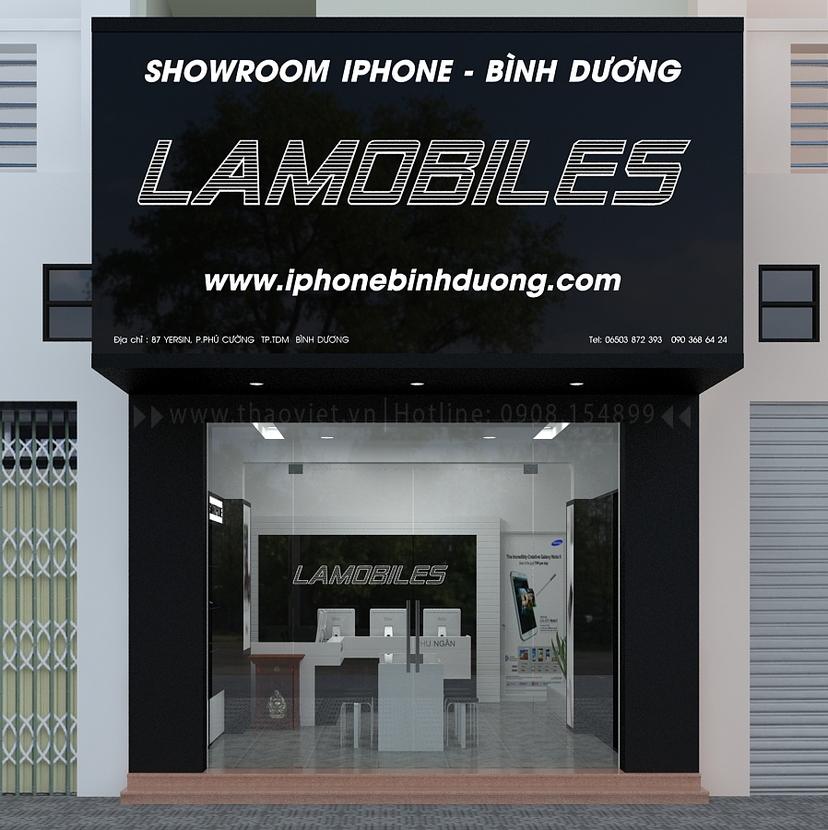 Thiết kế shop điện thoại LAMOBILES