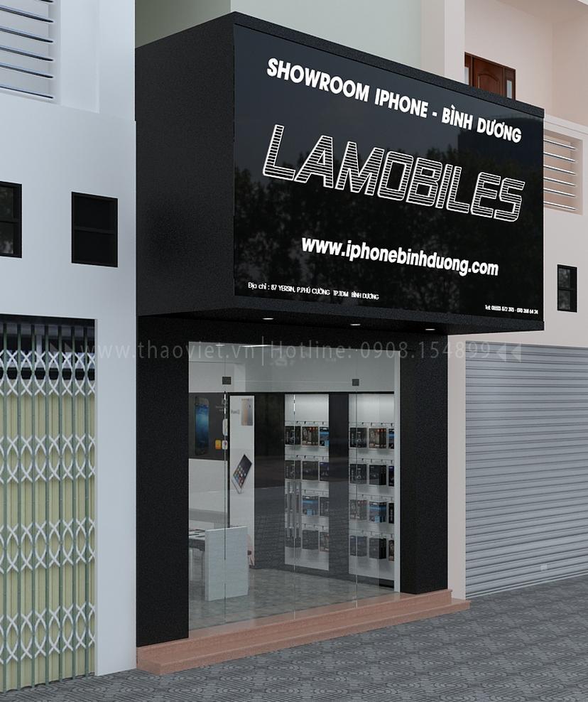 Thiết kế shop điện thoại LAMOBILES 1
