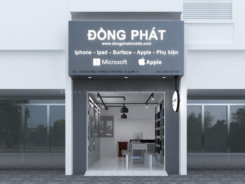 Thiết kế nội thất shop điện thoại Đồng Phát