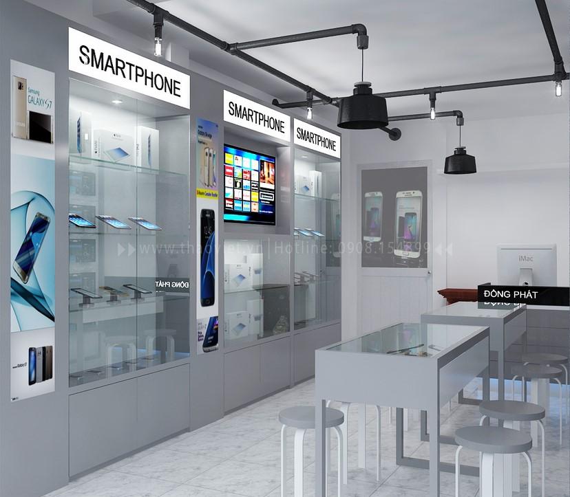 Thiết kế nội thất shop điện thoại Đồng Phát 3
