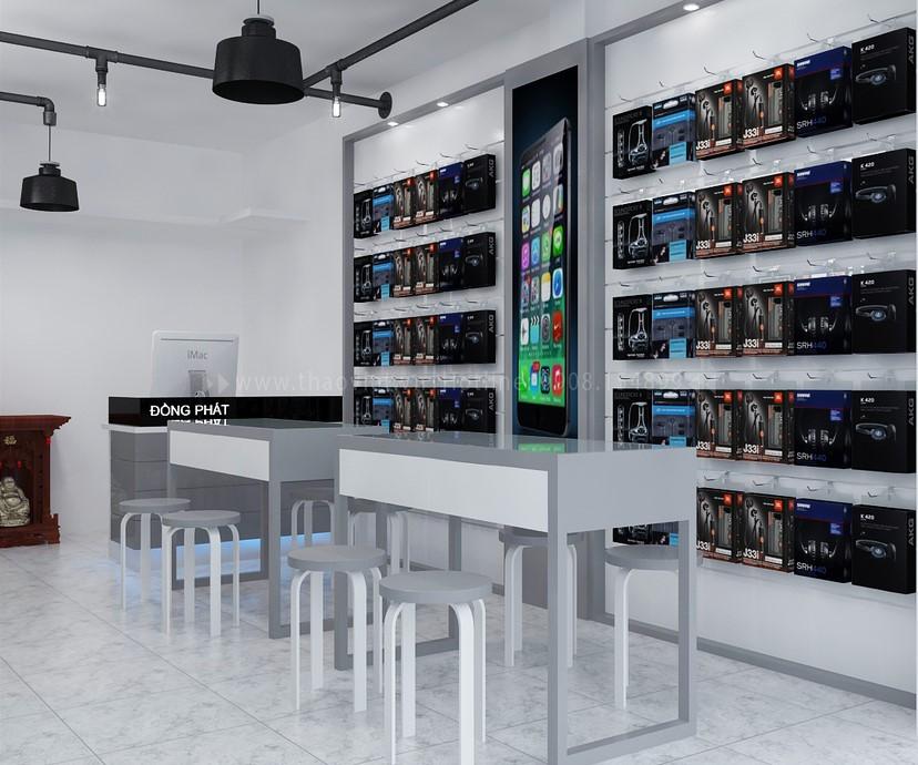 Thiết kế nội thất shop điện thoại Đồng Phát 5