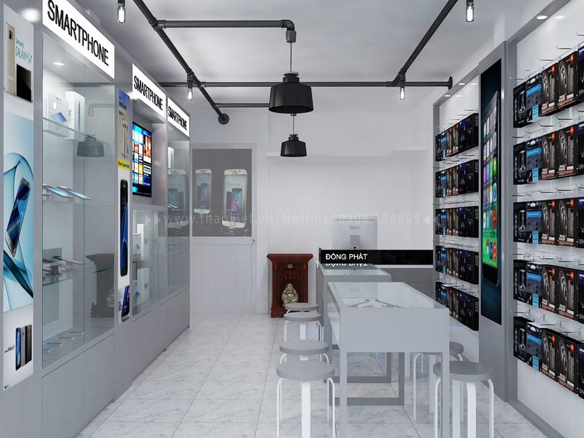 Thiết kế nội thất shop điện thoại Đồng Phát 2