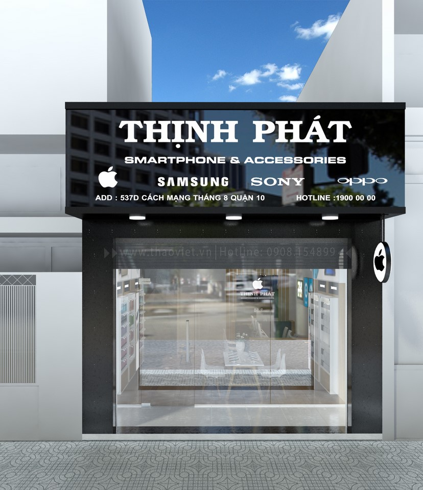 thiết kế shop điện thoại Thịnh Phát