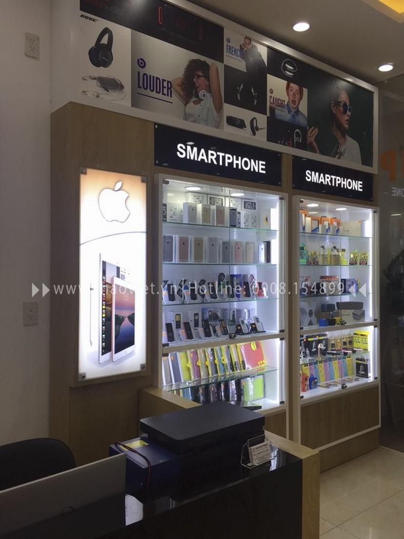 Thiết kế thi công nội thất shop điện thoại Thịnh Phát 3