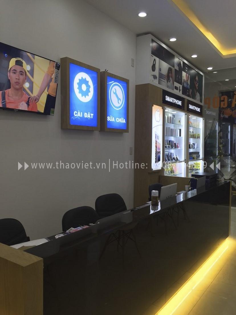 Thiết kế thi công nội thất shop điện thoại Thịnh Phát 1