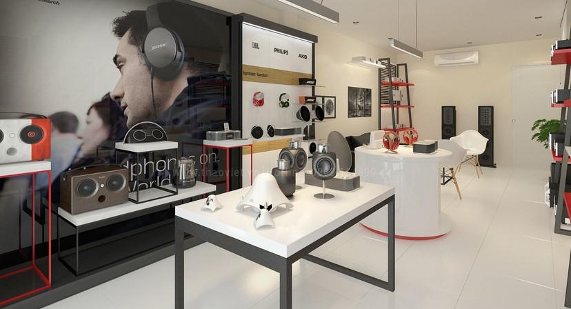 thiết kế shop công nghệ âm thanh Đẳng Cấp Digital 1