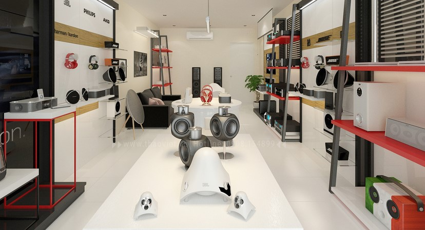thiết kế shop công nghệ âm thanh Đẳng Cấp Digital