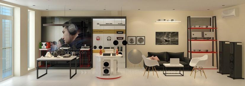 thiết kế shop công nghệ âm thanh Đẳng Cấp Digital 2