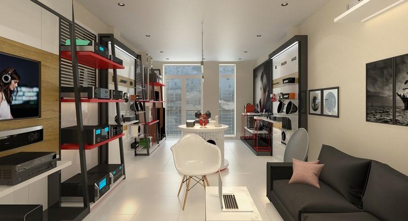 thiết kế shop công nghệ âm thanh Đẳng Cấp Digital 4
