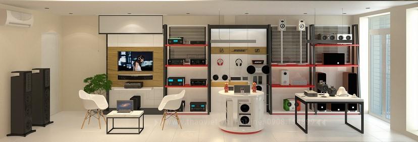 thiết kế shop công nghệ âm thanh Đẳng Cấp Digital 3