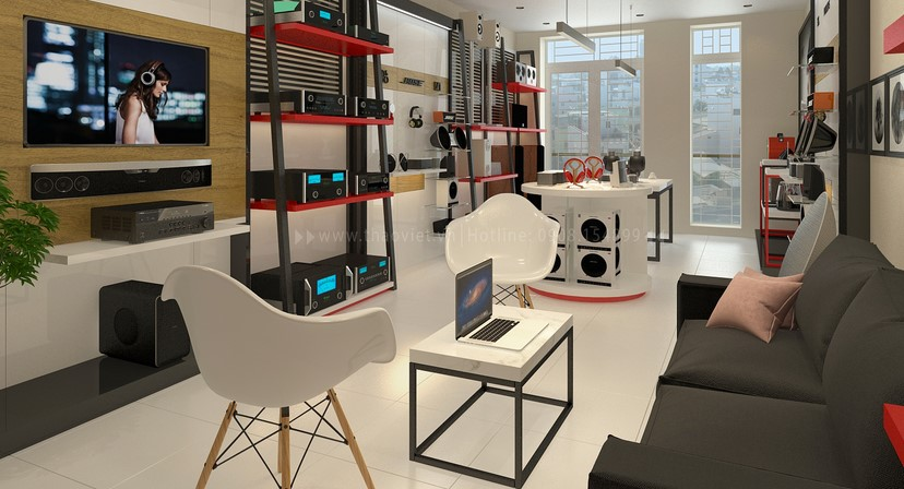 thiết kế shop công nghệ âm thanh Đẳng Cấp Digital 5