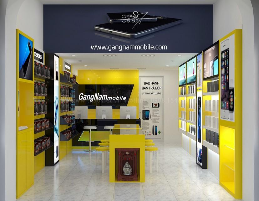 thiết kế nội thất shop GangNam 2