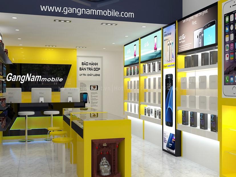 thiết kế nội thất shop GangNam 3