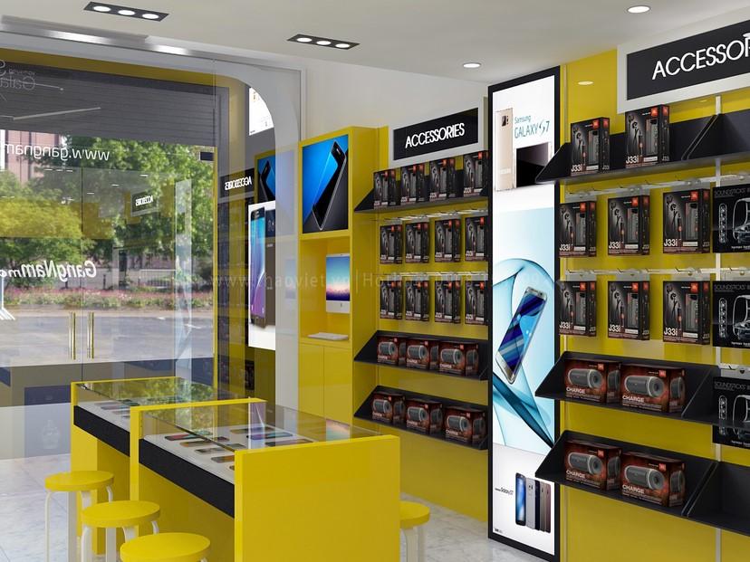 thiết kế nội thất shop GangNam 6