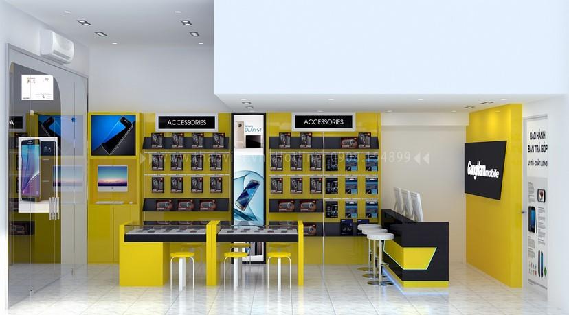 thiết kế nội thất shop GangNam 4