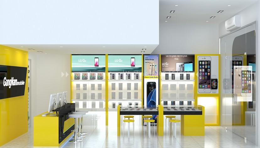 thiết kế nội thất shop GangNam 5