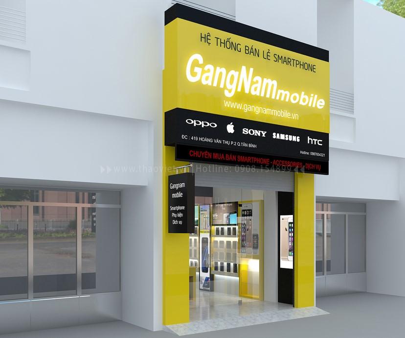 thiết kế nội thất shop GangNam 1