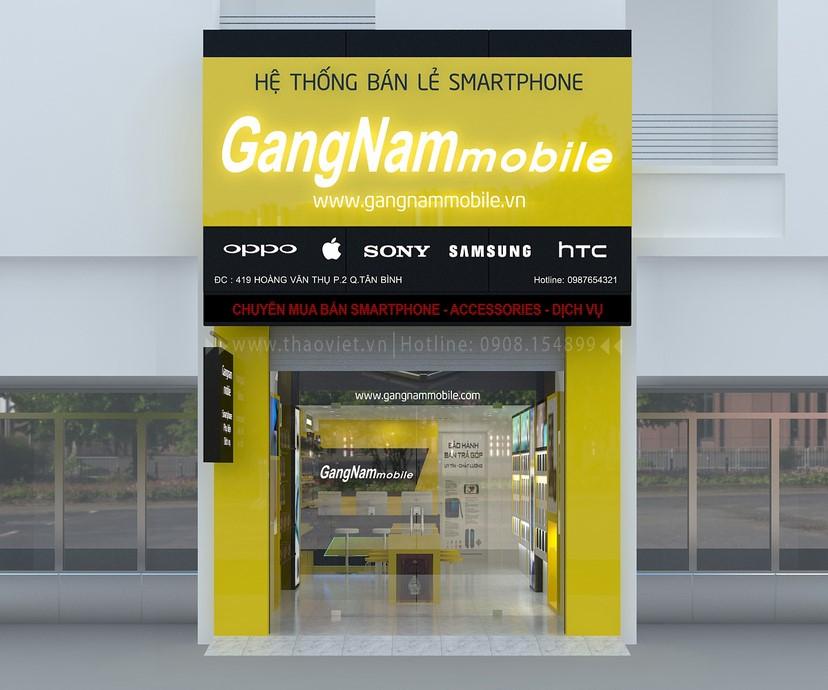 thiết kế nội thất shop GangNam