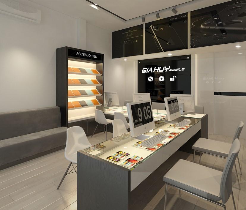 thiết kế nội thất shop Gia Huy 1