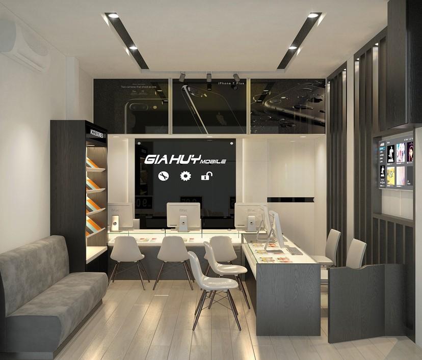 thiết kế nội thất shop Gia Huy