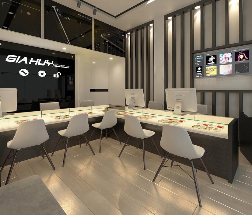thiết kế nội thất shop Gia Huy 2