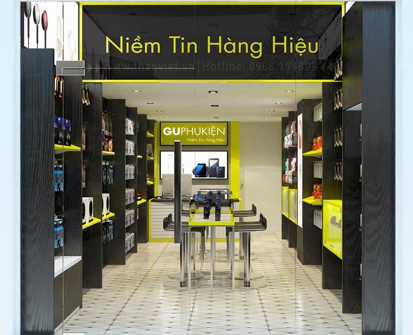 thiết kế nội thất shop phụ kiện 2
