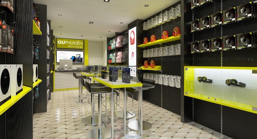 thiết kế nội thất shop phụ kiện 3