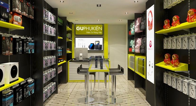 thiết kế nội thất shop phụ kiện 4