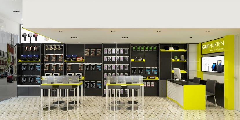 thiết kế nội thất shop phụ kiện 6