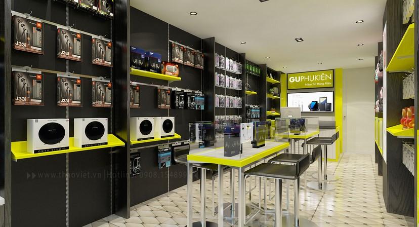 thiết kế nội thất shop phụ kiện 5