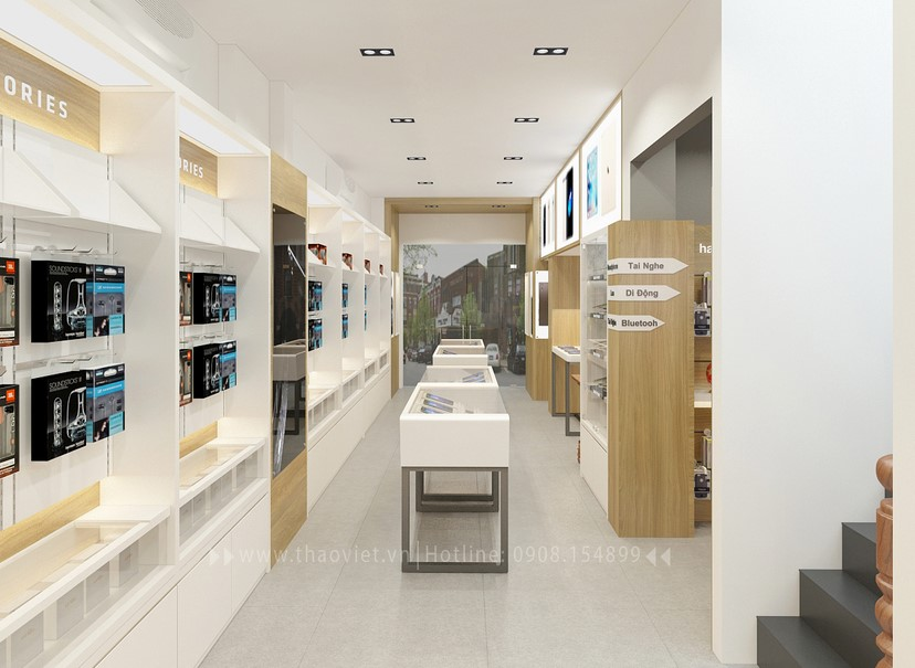 Thiết kế nội thất shop Hoàng Phát CN6 12