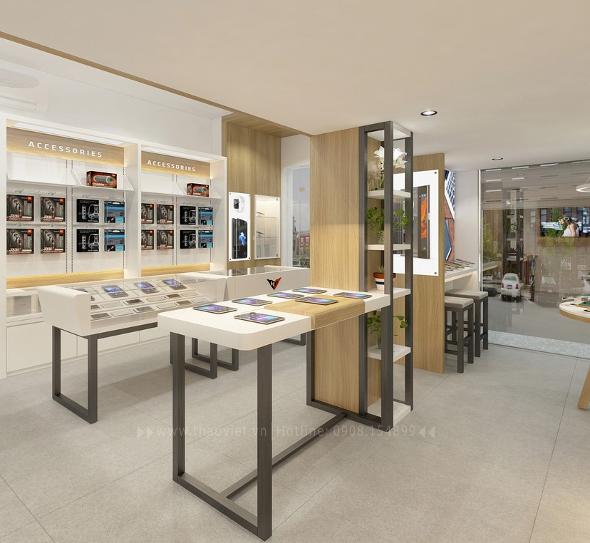 Thiết kế nội thất shop Hoàng Phát CN6 9