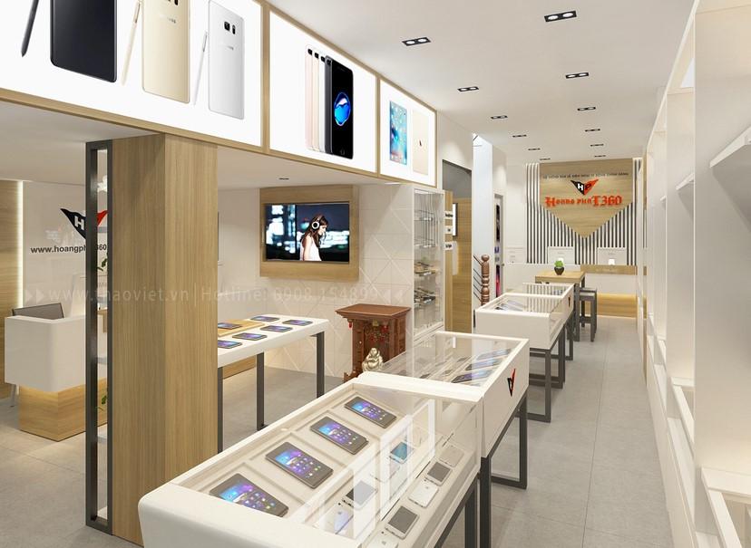 Thiết kế nội thất shop Hoàng Phát CN6 2