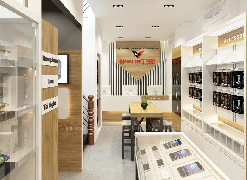 Thiết kế nội thất shop Hoàng Phát CN6 3