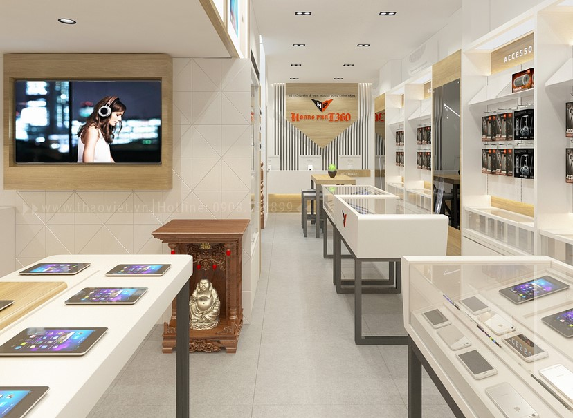 Thiết kế nội thất shop Hoàng Phát CN6 1