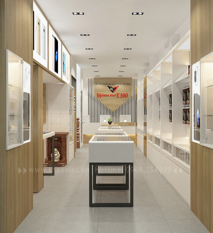 Thiết kế nội thất shop Hoàng Phát CN6