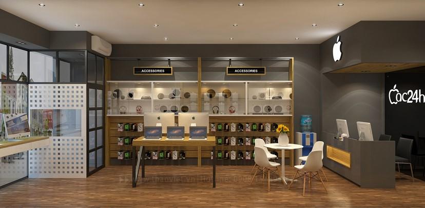 Thiết kế nội thất shop Mac 24h 4