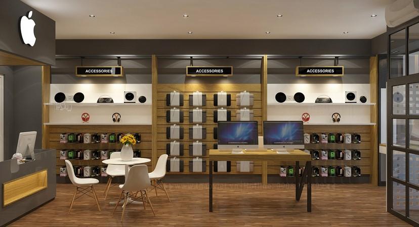 Thiết kế nội thất shop Mac 24h 5