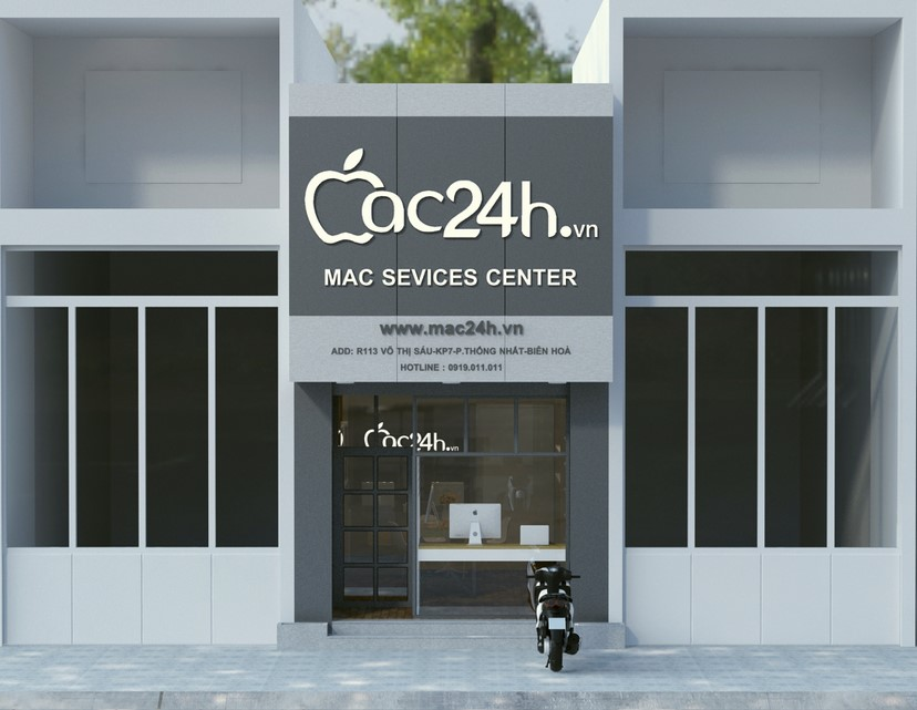 Thiết kế nội thất shop Mac 24h