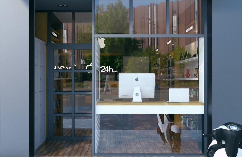 Thiết kế nội thất shop Mac 24h 9