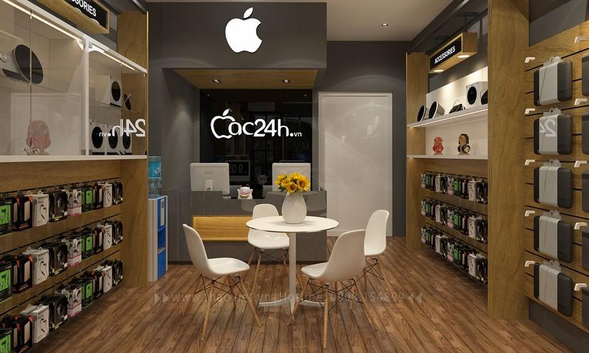 Thiết kế nội thất shop Mac 24h 2