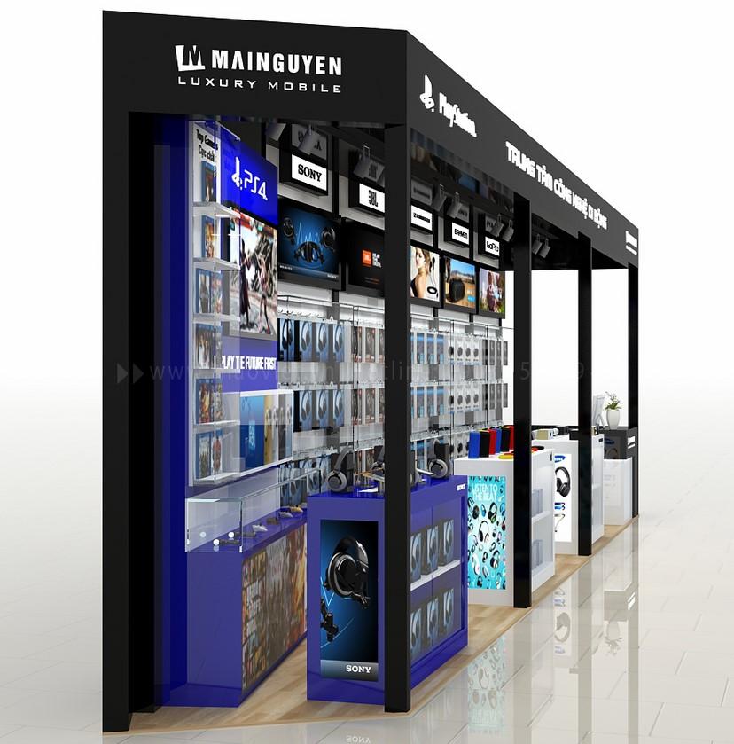 thiết kế gian hàng trưng bày điện thoại Mai Nguyên 3