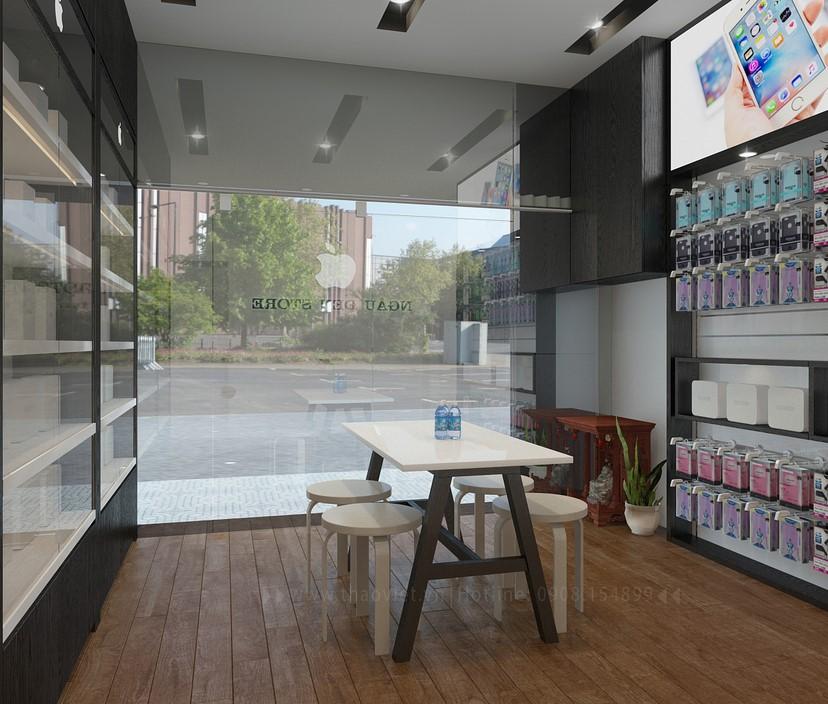 thiết kế shop điện thoại Ngầu Đen 5